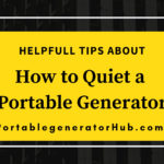 how to quiet a portable generator