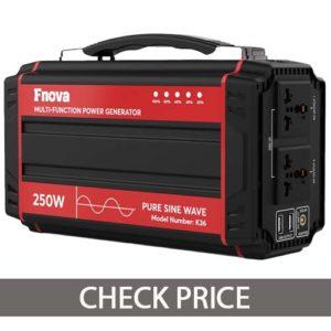 Fnova 250-Watt Portable Battery Generator Power Station