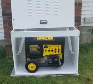 how to secure a portable generator