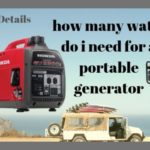 How Many Watts Do I Need For a Portable Generator