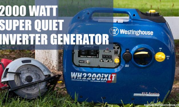 2000 Watt Super Quiet Inverter Generator Review – Top Best Generators
