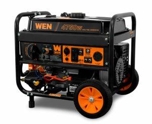 WEN DF475 4750-Watt 120V 240V Dual Fuel Portable Generator