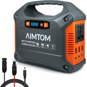 AIMTOM 155Wh Portable Power Station, Solar Rechargeable