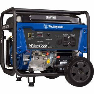 Westinghouse WGen6000 Portable Electric Generator for Camping