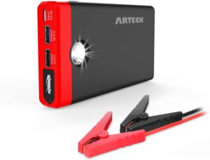 Arteck Portable Jump Starter Auto Battery Charger