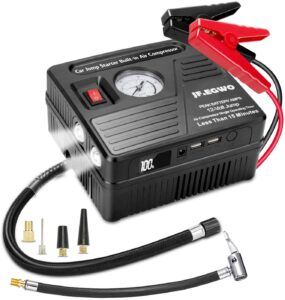 JF.EGWO Portable Jump Starter with Air Compressor