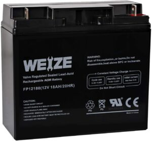 Weize 12V 18AH Battery