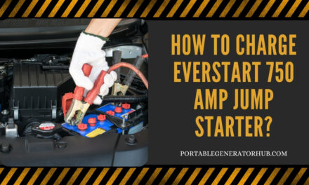 How To Charge Everstart 750 Amp Jump Starter?