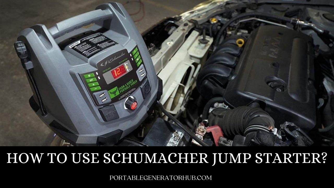 How To Use Schumacher Jump Starter